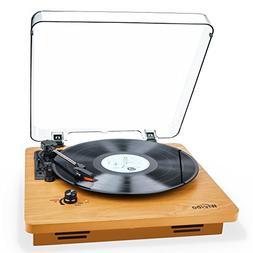 Record Player, Wrcibo Vintage Turntable 3-Speed Belt Drive V