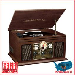 Record Player With Speakers 6 in 1 Bluetooth Radio Turntable