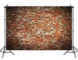 Sensfun Red Brick Wall Backdrop Vinyl Rustic Studio Photo Bo