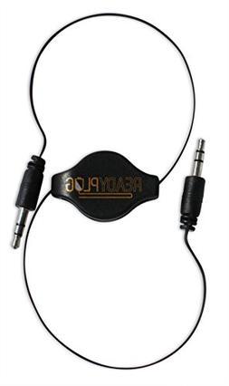2ft ReadyPlug Retractable 3.5mm Audio Cable for iRulu P2 Dua