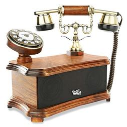 Retro Vintage Antique Style Phone Dial Desk Telephone With B