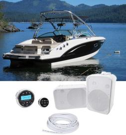 Rockville RGHR2 Marine Gauge Receiver w/Bluetooth+Remote+ 6.