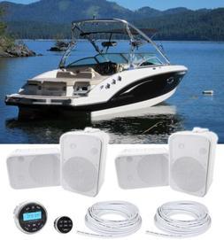 Rockville RGHR2 Marine Gauge Receiver w/Bluetooth+Remote+ 6.