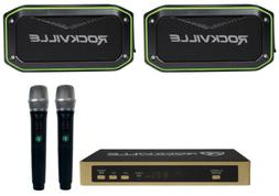 rock karaoke anywhere waterproof bluetooth stereo system
