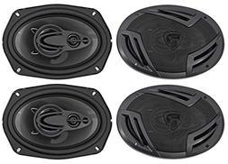 Rockville RV69.4A 6x9 4-Way Car Speakers 2000 Watts/440w RM