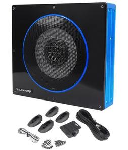 "Rockville RW8CA 8"" 600 Watt Low Profile Under-Seat Active Po"