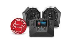 MTX RZRSYSTEM1 Polaris RZR Source Unit and 2 Speaker Audio S