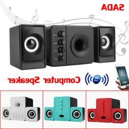 SADA BT Stereo Computer Speaker Desktop Multimedia Subwoofer