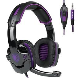 SADES SA930 3.5mm Wired Over Ear Stereo Gaming Headset with
