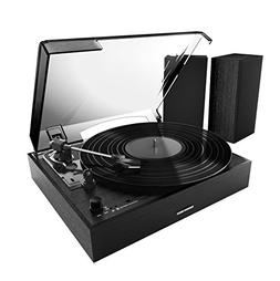 Sharper Image SBT4003BK Bluetooth Turntable With Speakers, S