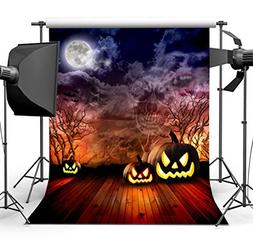 Sensfun Scary Halloween Pumpkins Dark Sky Trees Photography