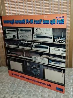 SEALED! Vintage 1977 How To Set Up & Test Hi-Fi  Stereo Syst