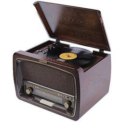 ZasLuke SG30-Box Vinyl Record Player Turntable with Built-in