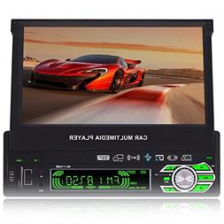 7-inch Single DIN In-Dash GPS Navigation For Car with Rear V
