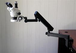 AmScope 3.5X-45X Trinocular Articulating Zoom Microscope + R