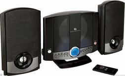 Small Stereo System Compact Shelf Sound MP3 DVD Aux Remote C