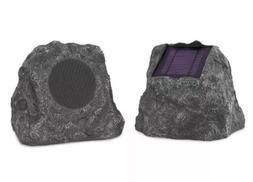 Innovative Technology Solar Bluetooth Outdoor Rock Speakers