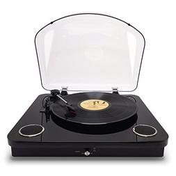 Photive Spin Vinyl Record Player with Built-in Speakers | 3-