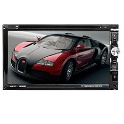 "LSLYA 6.95"" Double DIN Steering Wheel Control Car Stereo DVD"
