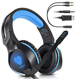 BUTFULAKE Stereo Gaming Headset for PS4 Xbox One Nintendo Sw