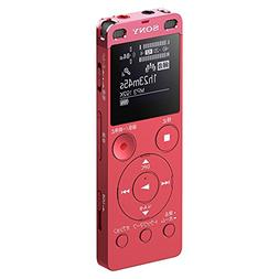 Sony stereo IC recorder 4GB with FM tuner Pink ICD-UX560F /