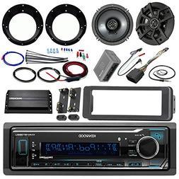 """Kenwood Stereo Receiver Bundle, 2 Kicker 6.5"""" Speaker, Motor"""