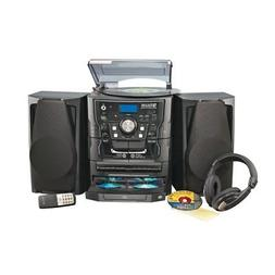 Avgo Stereo System with Turntable & Headphones - Black