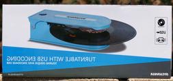 SYLVANIA STT008USB-BLUE PC Encoding USB Turntables - Blue