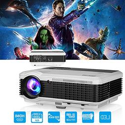 HD Digital LCD LED Video Projector Movie Gaming HDMI Support
