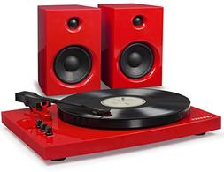 Crosley T100A-RE 2-Speed Bluetooth Turntable System with Ste