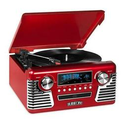 Innovative Technology V50-200-RED Bluetooth Stereo Turntable