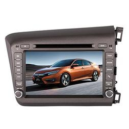 8 Inch Touch Screen Car GPS Navigation for HONDA CIVIC 2012-