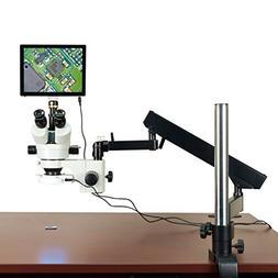 OMAX 3.5X-90X 5MP Touchpad Screen Trinocular Stereo Microsco