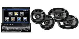 "Pioneer TS-165P + TS-695P Two Pairs 6.5"" + 6x9"" Component Sp"