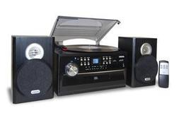 NEW 3-Speed Turntable with CD, Radio, Remote