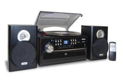 3-Speed Turntable with CD, Radio, Remote