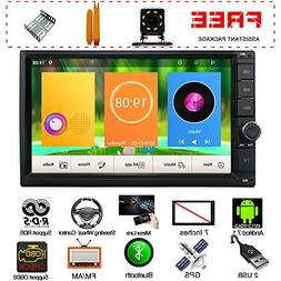 New UI In Dash 7 Inch Touch Screen Double Din Android 7.1 Qu