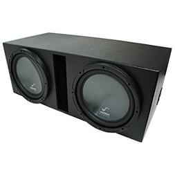 "Universal Car Stereo Rhino Coated Ported Dual 12"" Harmony R1"