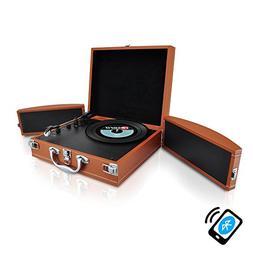 Upgraded Version Pyle Vintage Record Player, Classic Vinyl P