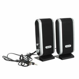 USB Power 3.5mm Jack Stereo Music Speaker System Fo PC Mac C