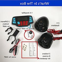 UTV ATV Bluetooth Amplifier Sound System Hand-free Speakers