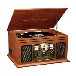 Victrola 6 In 1 Nostalgic Bluetooth Record Player With 3 Spe