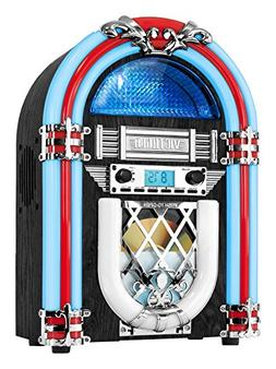 Victrola Retro Desktop Jukebox with CD Player, FM Radio, Blu