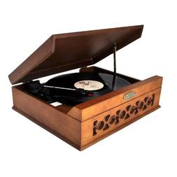 Pyle Vintage Style Phonograph/Turntable With USB-To-PC Conne