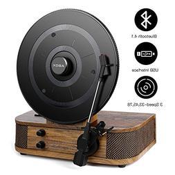 Vintage Turntable - Vinyl Record Player, ABOX Bluetooth Turn