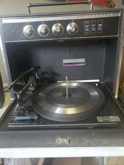Vtg Sylvania Record Player Exponent 4/40 Solid State Garrard