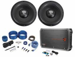 """Rockville W12K6D4 V2 12"""" 4800w Car Audio Subwoofers+Mono Am"""