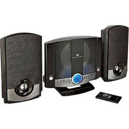 GPX Wall-Mountable Micro Stereo System, HM3817DTBLK