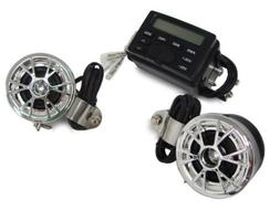 DLLL Waterproof Motorcycle ATV UTV Bike Audio Handlebar FM R