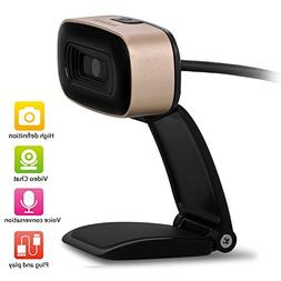 Ausdom HD Webcam, Widescreen 720P Web Camera with Built-in N